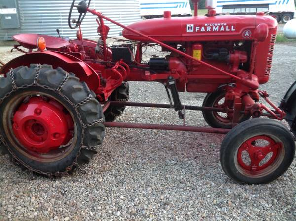 Photo Farmall A and tools - $2,200 (Bannister)