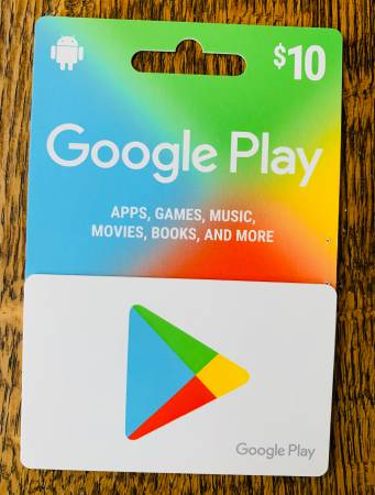 Photo Google Play Gift Card - $3 (Moores River Drive Area)