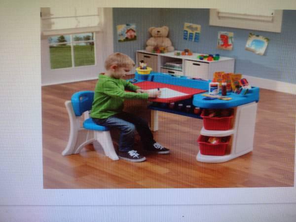 Photo Kids step 2 art desk - $70 (Mancelona)
