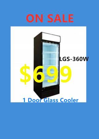 Photo One Door Glass Door Refrigerator (Restaurant Equipment) 100 NEW EQU - $899 (BRAND NEW)
