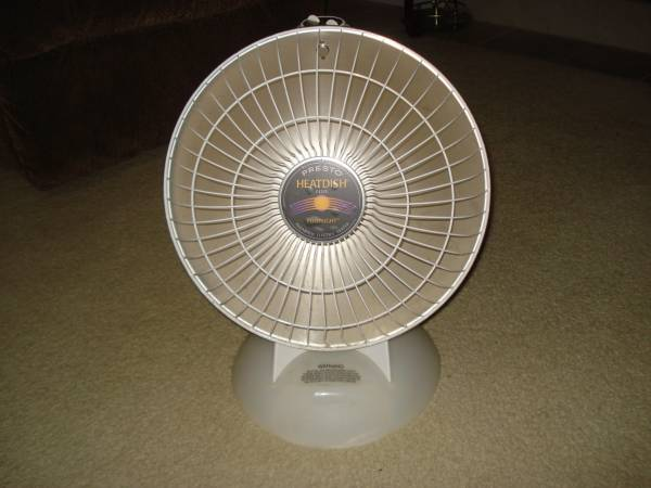 Photo Presto Heat Dish Plus Footlight Parabolic Electric Heater - $40 (Burton)