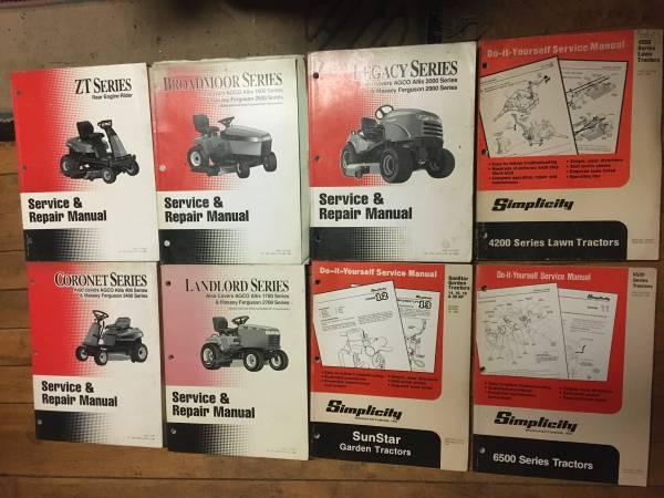 Photo Simplicity Lawn Mower Manuals - $15 (Saint Louis)