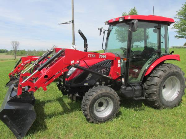 Photo Tractor with Cab and Loader (newaygo)