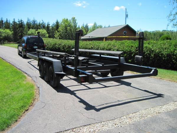 Photo Tube steel track and trolley boat trailer for sale - $6,500 (Cheboygan)