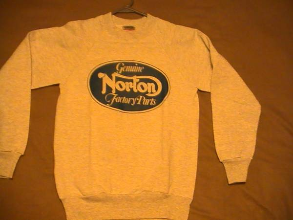 Photo Vintage Norton Sweatshirt - size adult Small - $25 (North Downtown Lansing)