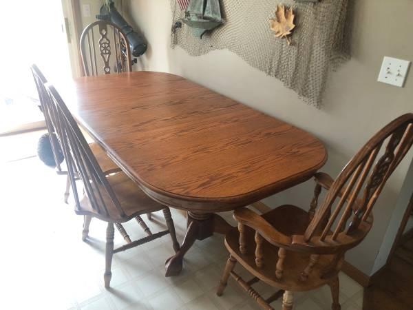 Photo oak dining set - $350 (Carson City)