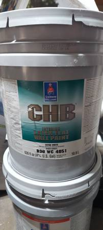 Photo paint 5 gallon bucket Sherwin Williams CHB ceiling paint - $40 (Wyoming)