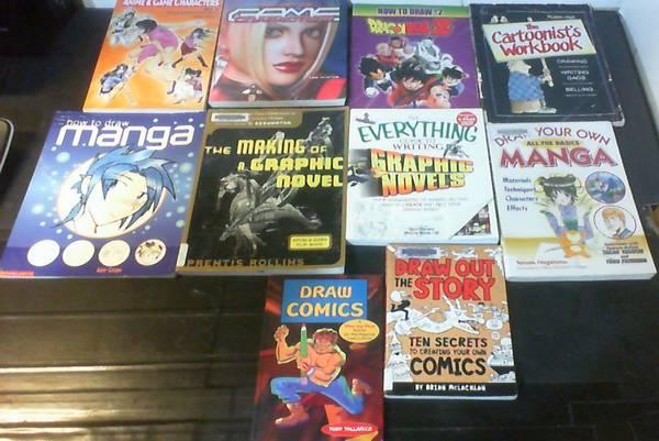 Photo 10 Books  How to Make  Draw Comics, Graphic Novels  Manga Cartoonis - $10 (KISSIMMEE)
