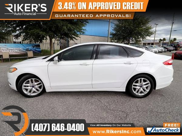 Photo $122mo - 2016 Ford Fusion SE - 100 Approved - $122 (Rikers Auto Financial)