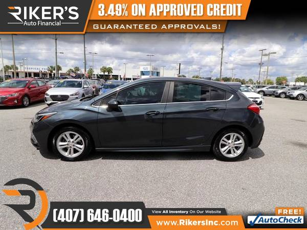 Photo $141mo - 2017 Chevrolet Cruze LT - 100 Approved - $141 (Rikers Auto Financial)
