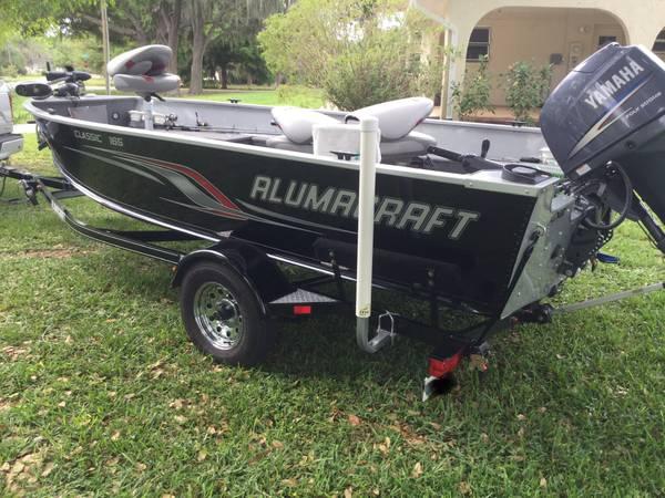 Photo 2011 ALUMACRAFT 165 classic tiller - $9500 (Lake Placid)