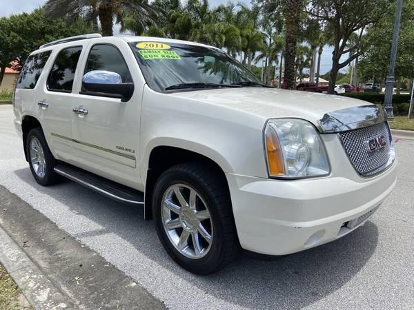 Photo 2011 GMC YUKON DENALI 4WD 6.2L 147K MILES -PEARL WHITE 3RD ROW - $19,700 (PORT ST. LUCIE, FL (772) 212-3005)