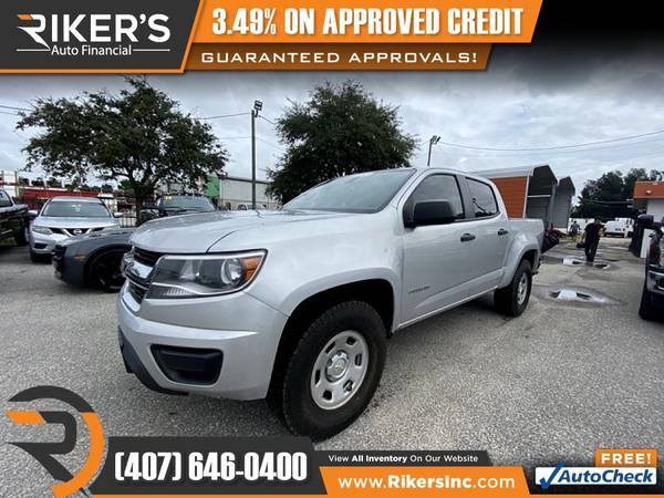 Photo $236mo - 2017 Chevrolet Colorado Work Truck Crew Cab - 100 Approved - $236 (Rikers Auto Financial)