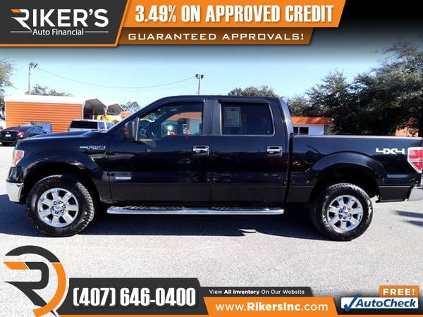 Photo $241mo - 2013 Ford F150 F 150 F-150 XLTCrew Cab - 100 Approved - $241 (Rikers Auto Financial)