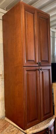 Photo 2 Piece Dark Brown Cabinet Set With 1 Base 1 Upper Granite Top - Used - $325 (Bonita Springs)