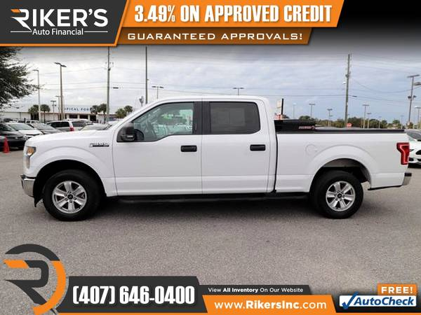 Photo $335mo - 2017 Ford F150 F 150 F-150 XLT Crew Cab - 100 Approved - $335 (Rikers Auto Financial)