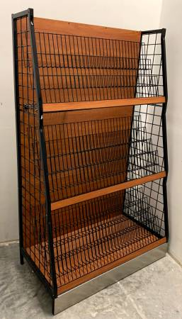 Photo 48quot Inch Wide Brown  Black Magazine Rack - Used - In Good Condition - $99 (Bonita Springs)