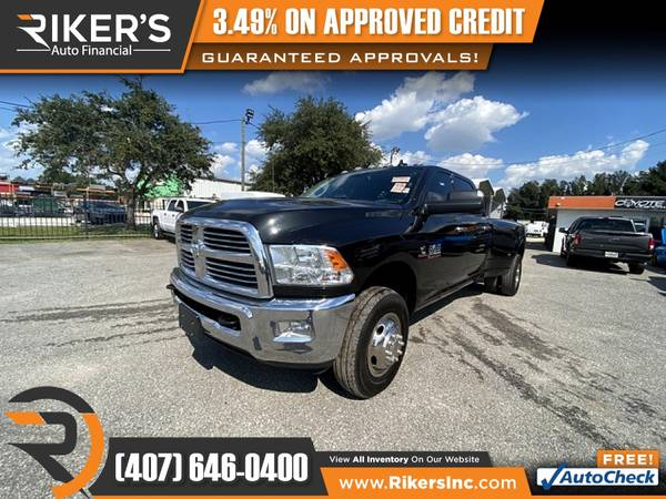 Photo $729mo - 2018 Ram 3500 Big HornCrew Cab - 100 Approved - $729 (Rikers Auto Financial)