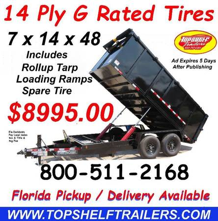 Photo 7 X 14 X 48 14 K Dump Trailer Heavy Duty Dump Trailers Direct (28 Years Building Dump Trailers)