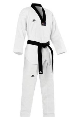 Photo Adidas Taekwondo Uniform (Dobok), Black-V, WTF Approved - $20 (Saint Petersburg)