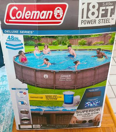 Photo Coleman 18 Foot Above Ground Swimming Pool - $1,000 (Osprey)