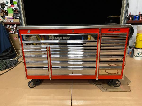 Photo Snap on , tool box , Red KRL1023PMF, Excellent condition, Roller tripl - $4,250 (Naples)