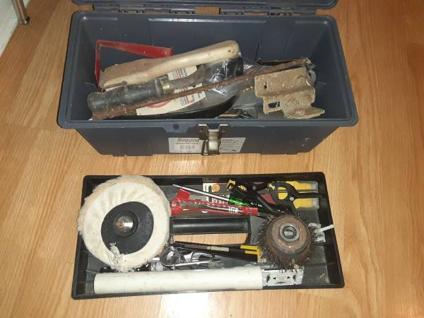 Photo Tool box with tools - $15 (Lutz)