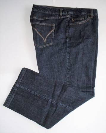 Photo VENEZIA Women39s Stretch Bootcut Jeans, Dark Blue, Plus Size 5 Patite - $10 (CAPE CANAVERAL)