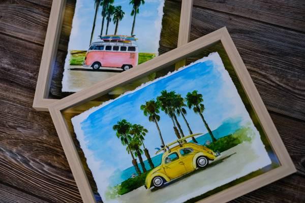Photo Watercolor Paintings Ocean Vibes - $40 (Kissimmee)