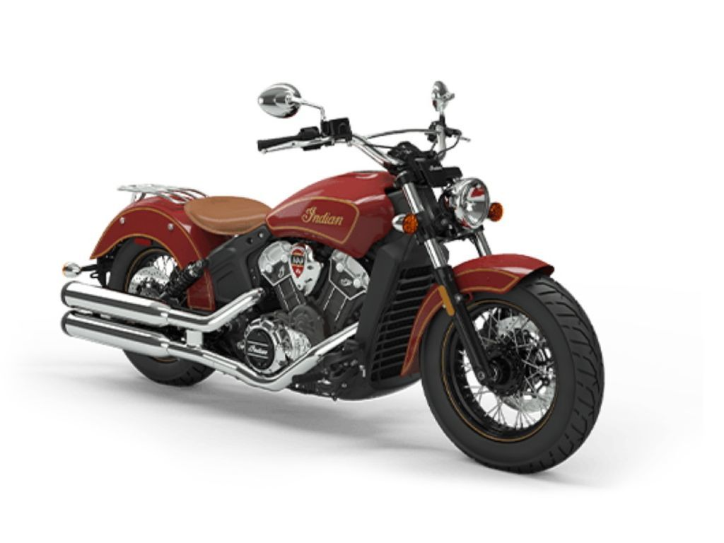 Photo 2020 Indian Motorcycle Scout 100th Anniversary Indian Red with Gold trim $15999