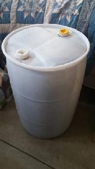 55 Gallon Plastic Drum. Food Grade Barrel. Rain Catchment ...