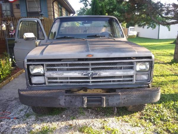 Photo 1986 chevy k10 running project truck - $700 (Paxton)