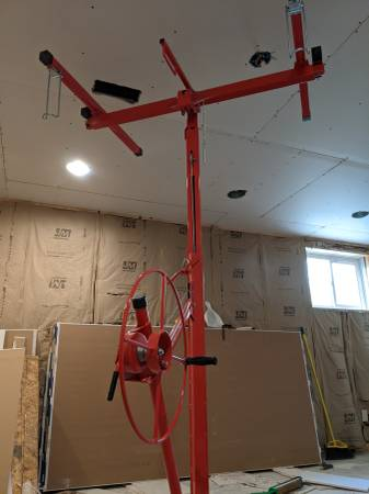Photo Drywall lift hoist - used for one small project - $135 (CHAMPAIGN)