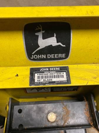 Photo John Deere Snow Plow - $250 (Henning)