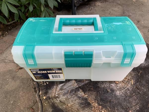 Photo Keter 16quot plastic tool box - $10 (Urbana, IL)