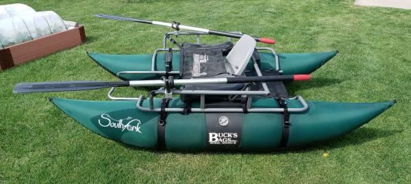 Photo Pontoon Boat- 8 foot Inflatable - $550 (Lafayette)