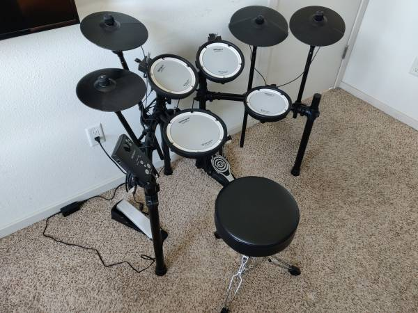 Photo Roland TD-1DMK V-Drums Set  Extra Larger Ride Cymbal with Mounts - $849 (Chaign Custown)