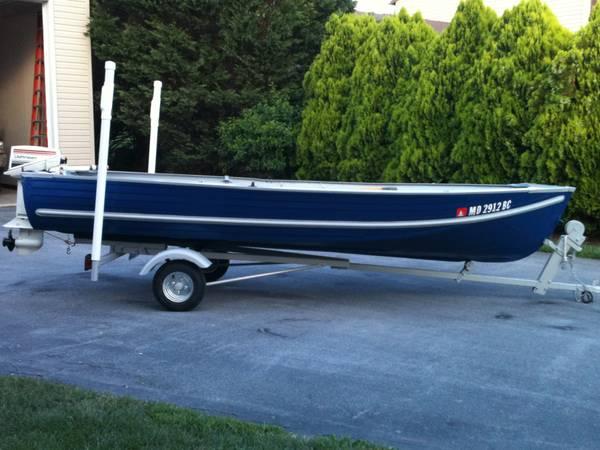 Photo 14 ft Aluminum V bow Fishing Boat - $1,500 (Smithsburg)