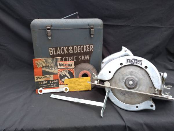 Photo 1952 Black and Decker HU 80 8quot Lectro Saw Case, Tools  Original Paper - $20 (Waynesboro)