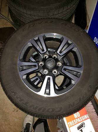 Photo 2017 Tacoma OEM Wheel and Tire Package - $500 (Harrisburg)
