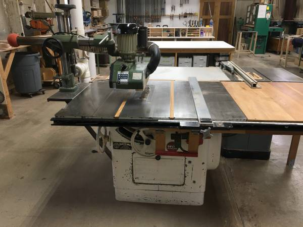 Photo Delta Rockwell Milwaukee 14quot Table Saw 5HP 1Phase 220V wPower Feeder - $2,900 (Shippensburg)