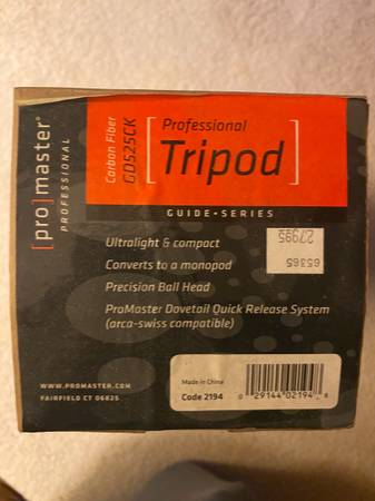 Photo Pro master CarbonFiber Tripod - $200 (Altoona)