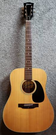 Photo Sekova made in Japan acoustic guitar with accessories included - $100 (Chambersburg Pennsylvania)