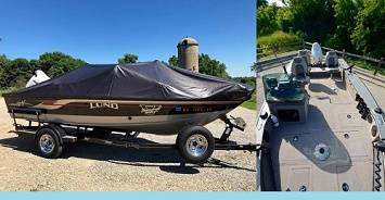 Photo Supercharged 2003 lund 1775 proV boat for sale........... - $1,400 (cumberland val)