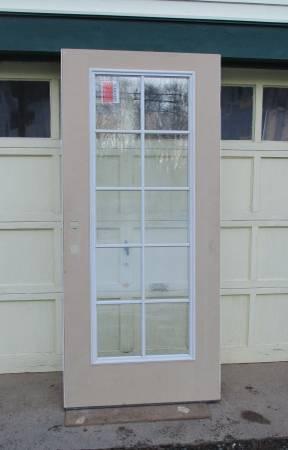 Photo Two Exterior Insulated Fiberglass Full Glass Doors - $90 (Pine Grove, Pa)