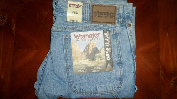 Photo Wrangler Rugged Wear 34x34 Men39s Carpenter Jeans Relaxed Fit NWT New - $30 (Nicktown)