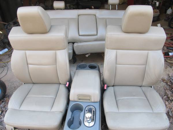 Photo 05 ford f150 seats TAN leather - $600 (Shelby)