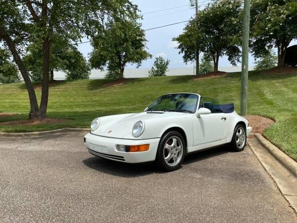 Photo 1992 Porsche 911 Carrera 964 Cabriolet Manual - $49,500 (Charlotte)