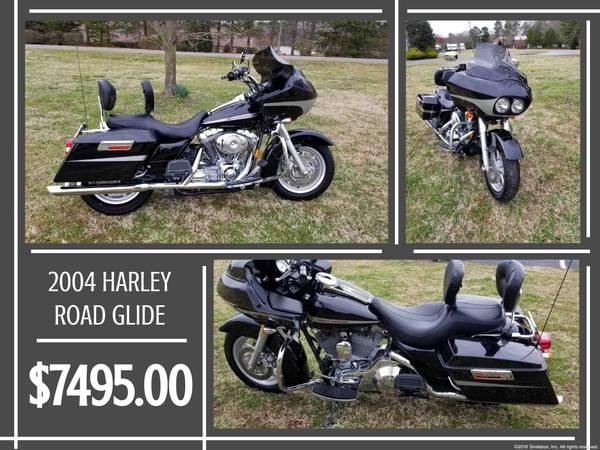 Photo 2004 HARLEY DAVIDSON ROAD GLIDE FOR SALE - $7,495 (Cherryville)