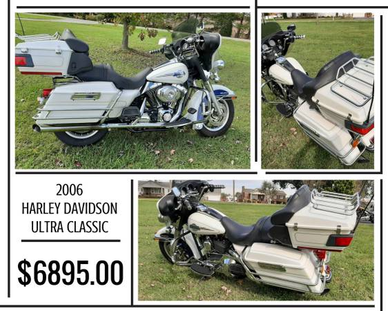Photo 2006 HARLEY DAVIDSON ULTRA CLASSIC FOR SALE - $6,895 (7507 DALLAS CHERRYVILLE HWY. CHERRYVILLE, NC)
